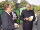 Dr. Krishna Bhatta with Foreign Minister Yashawant Sinha